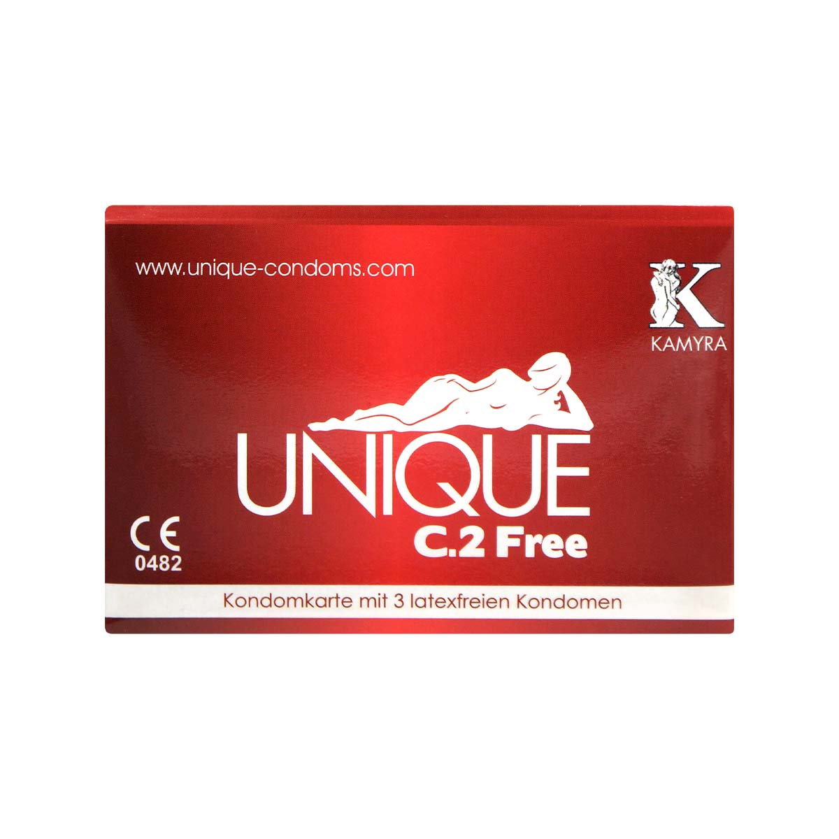 Kamyra Non-Latex Unique C.2 Free 60mm 3's Pack Synthetic Condom